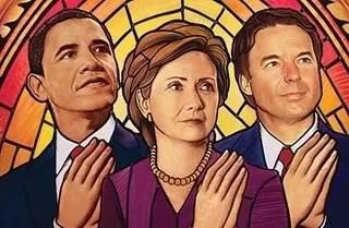 Barack, Hillary, and John full of grace