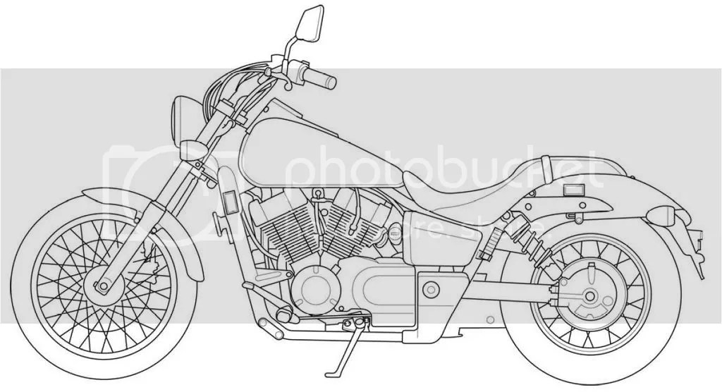Motorcycle Line Art