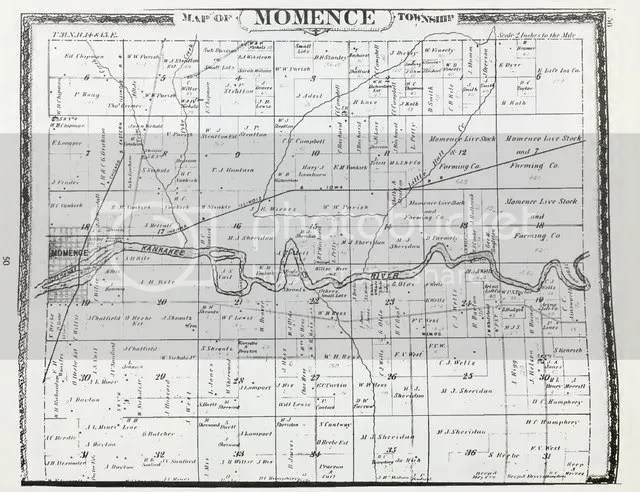 Momence Township, Kankakee County, Illinois, 1883 (click to enlarge)