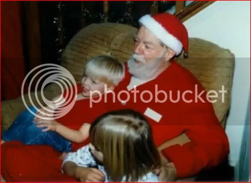 Santa (Earl) and grandkids