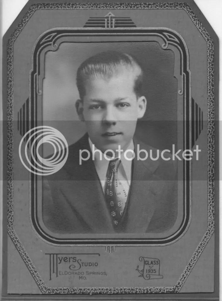 Earls high school graduation photograph, 1935