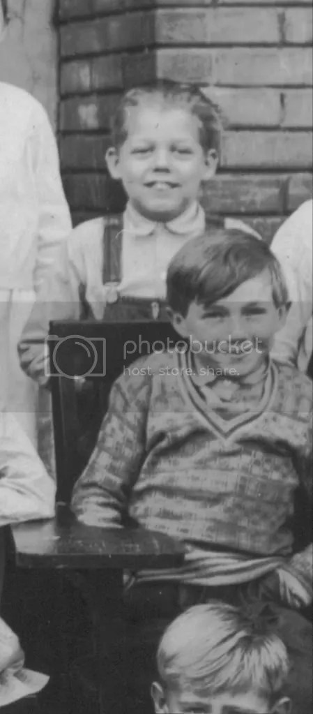 Another photograph of Earl from Lowry City School, apparently the gent in the back.  I wonder if the boy sitting in front of him might be Earls brother Gene.