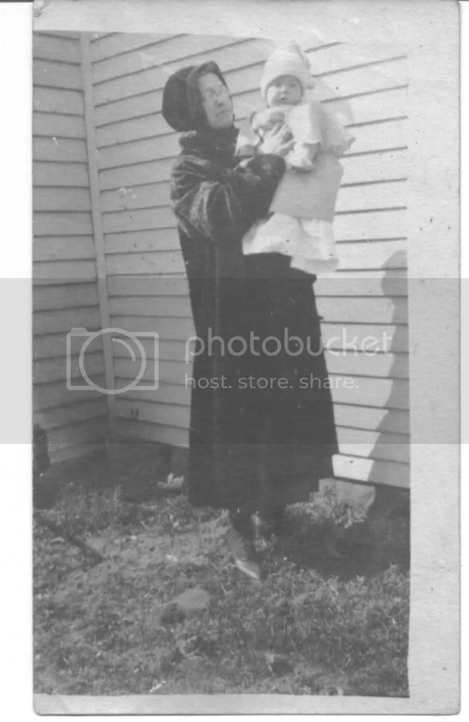 Earl and his mother at Lowry City, 1917