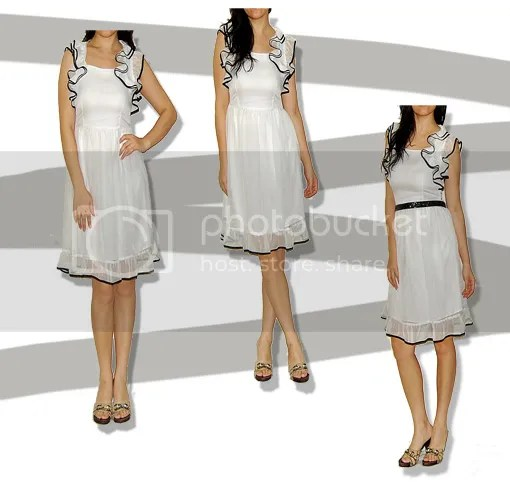 Paris Hilton Silk Ruffle Dress AUD$95.99