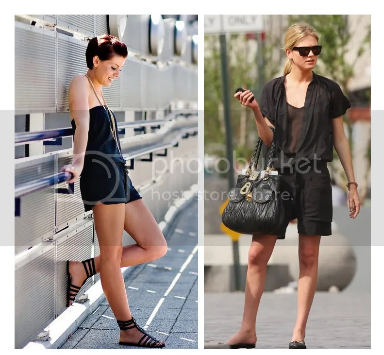 Black playsuit romper