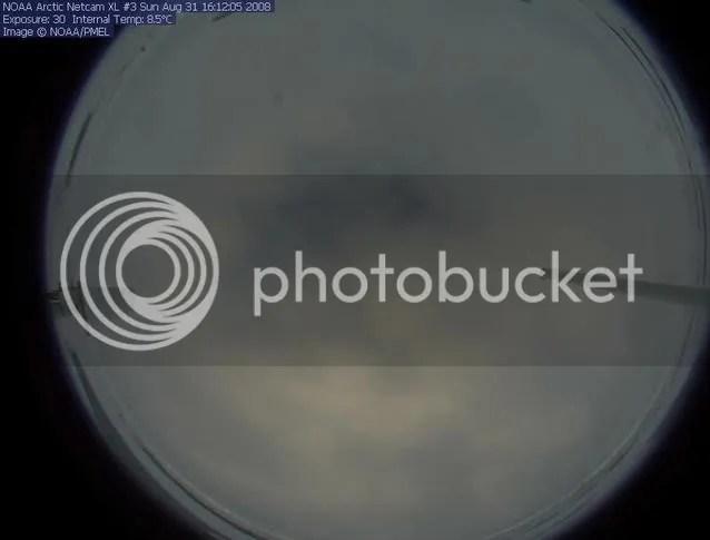 NOAA webcam #3, arctic sea ice, 31 August 2008, 2008 melt season