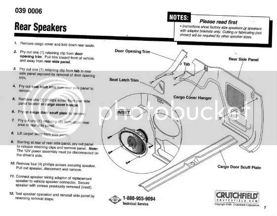 2004 Nissan xterra stock speakers