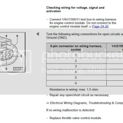 Seat Ibiza Mk4 Wiring Diagram Vw Lupo Stereo 17579 Angle Sensor 2 For Throttle Actuator G188 Implausible Signal I Just Wanted To Test The Primarily Because Ve Tried 3 Used Bodies As Noted In Earlier Posts And Still Getting Various Error Codes