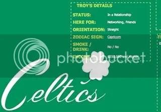 Celtics Myspace Background