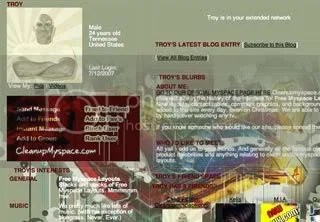 Graffiti Background for Myspace