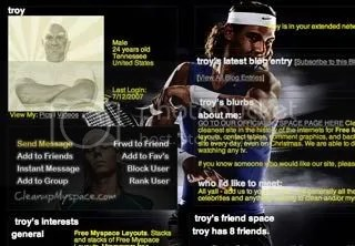 Rafael Nadal Myspace Layout