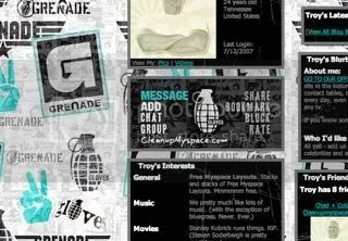 Grenade Gloves Myspace Layouts