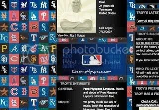 Baseball MLB Myspace Backgrounds