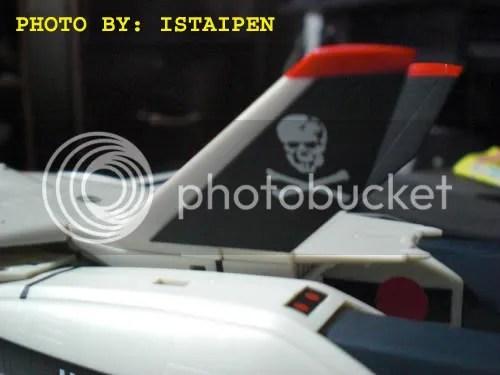 The skull squadron logo on Hikarus VF-1S