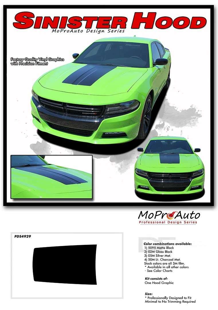 Matte Green Charger : matte, green, charger, Dodge, Charger, Center, Vinyl, Graphic, Decal, SINISTER