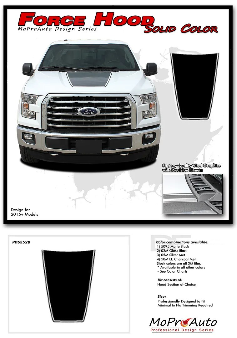 hight resolution of force hood ford f series f 150 moproauto pro design series vinyl graphics