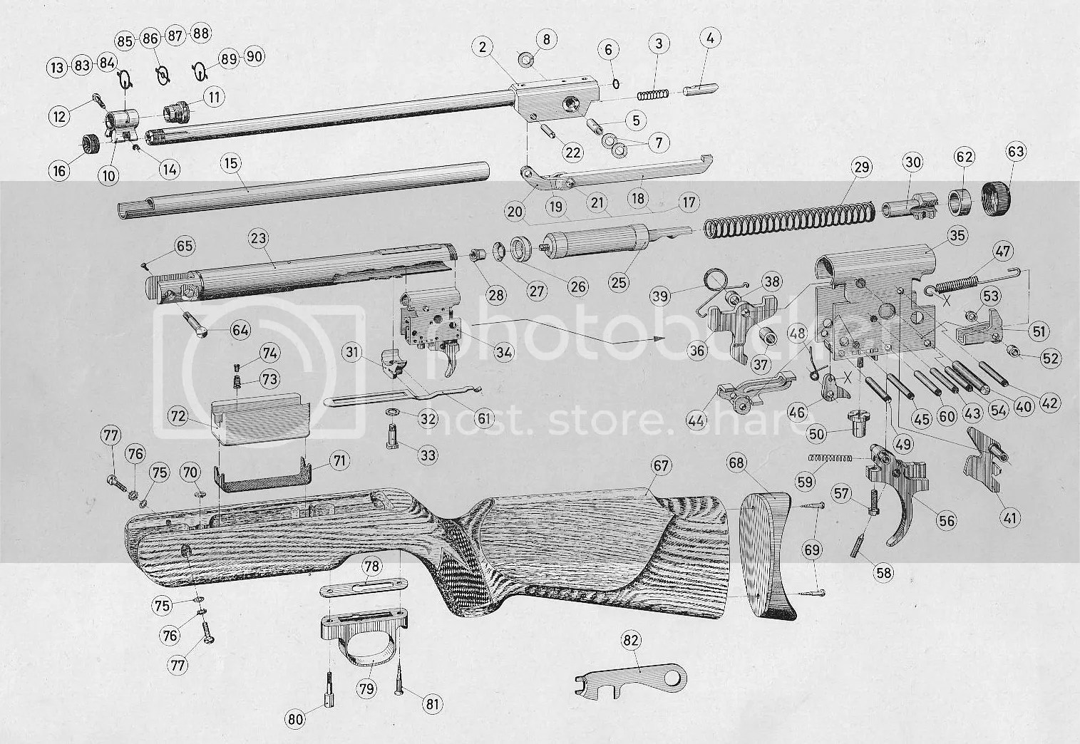 American Vintage Airguns Forum: Parts and Diagrams for
