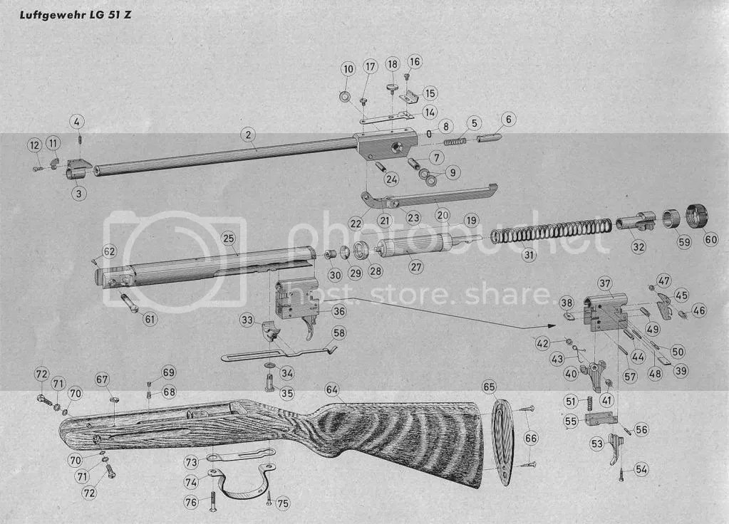 American Vintage Airguns Forum: Lg 51 parts diagrams
