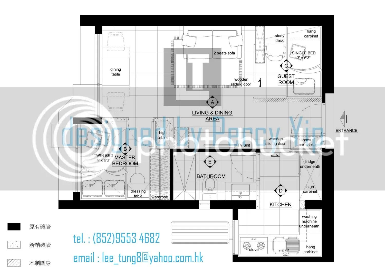 Percy Yip 設計作品 : 和諧式居屋設計上集(1房變2房) - 家居佈置圖片 - Uwants.com