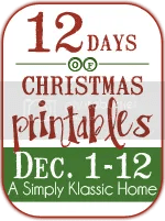 12DaysButton - 30+ FREE Christmas Printables