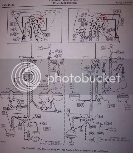 john deere 3020 light switch wiring diagram onan generator remote start yesterday s tractors