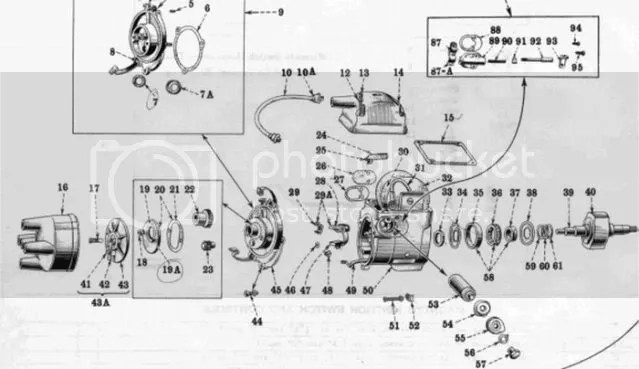 Farmall F4 Magneto Parts Diagram, Farmall, Free Engine