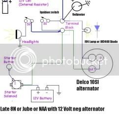 12 Volt One Wire Alternator Wiring Diagram Integra Starter Meter Yesterday S Tractors