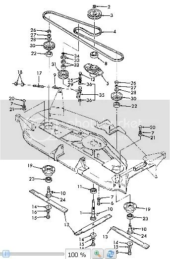 Ford 914 mower deck belt routing