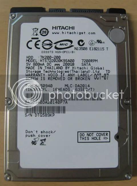 7200RPM 200G Harddisk