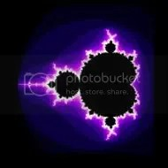 The 'first' frame of the Mandelbrot fractal, the one that is most widely recognised