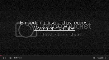Image of Youtube video that cannot be played because embedding within the page is 'disabled by request'