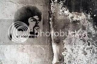 Gil Scott-Heron in graffiti