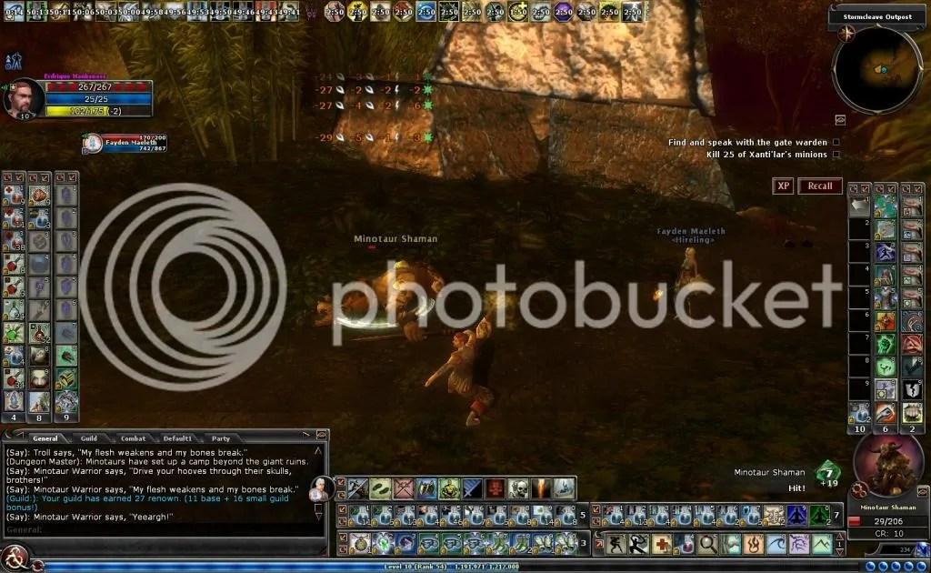 Erd knocking a minotaur on its rump photo Erdknockingaminotaurshamanonitsrump_zps8c88223a.jpg