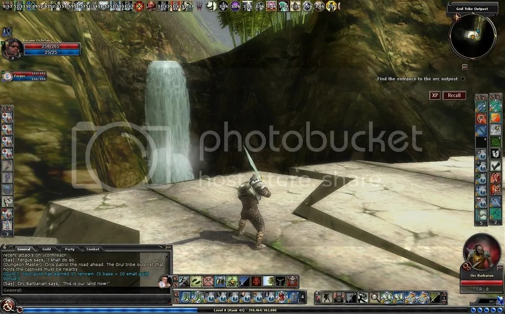 photo Berann taking note of the waterfall in Grul Tribe Outpost_zpsd1n50ahy.jpg