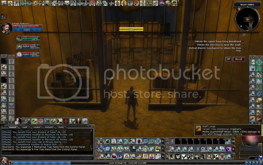 photo Erd unlocking the gate in the Knaves Hollow_zpsztjo3jaa.jpg