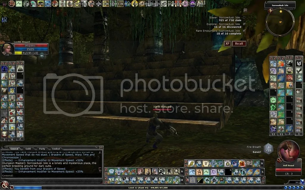 photo Lorrikk fighting the hellhounds in Sorrowdusk Isle_zpslai8bg0v.jpg