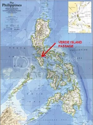 Map showing Verde Island Passage