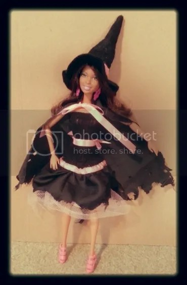 barbie doll witch hat cape free fashion doll pattern