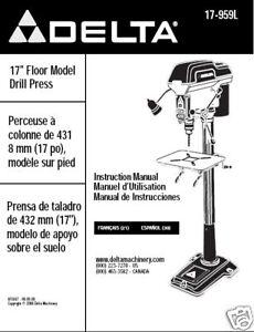 Delta-17-Drill-Press-Instruction-Manual-17-959L