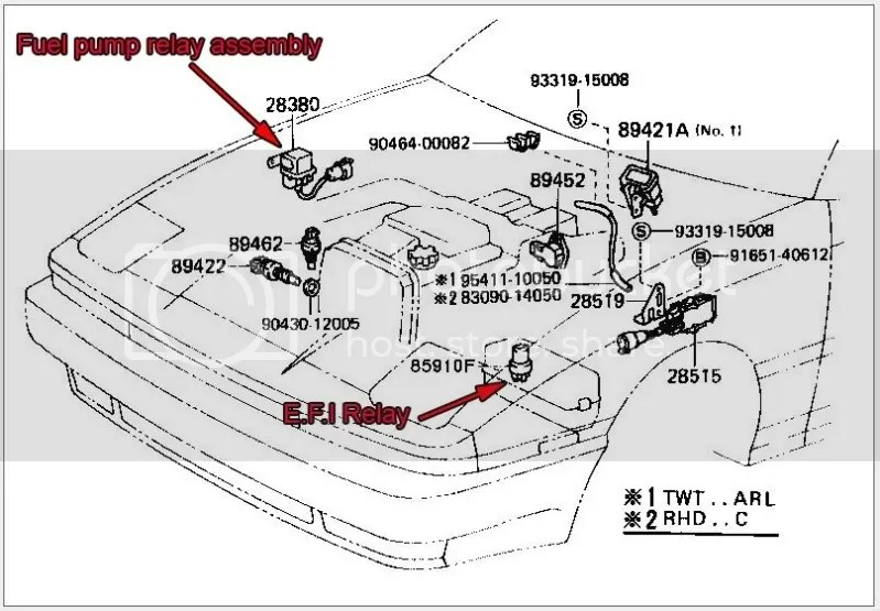 89 Toyota Fuel Pump Relay Location, 89, Free Engine Image
