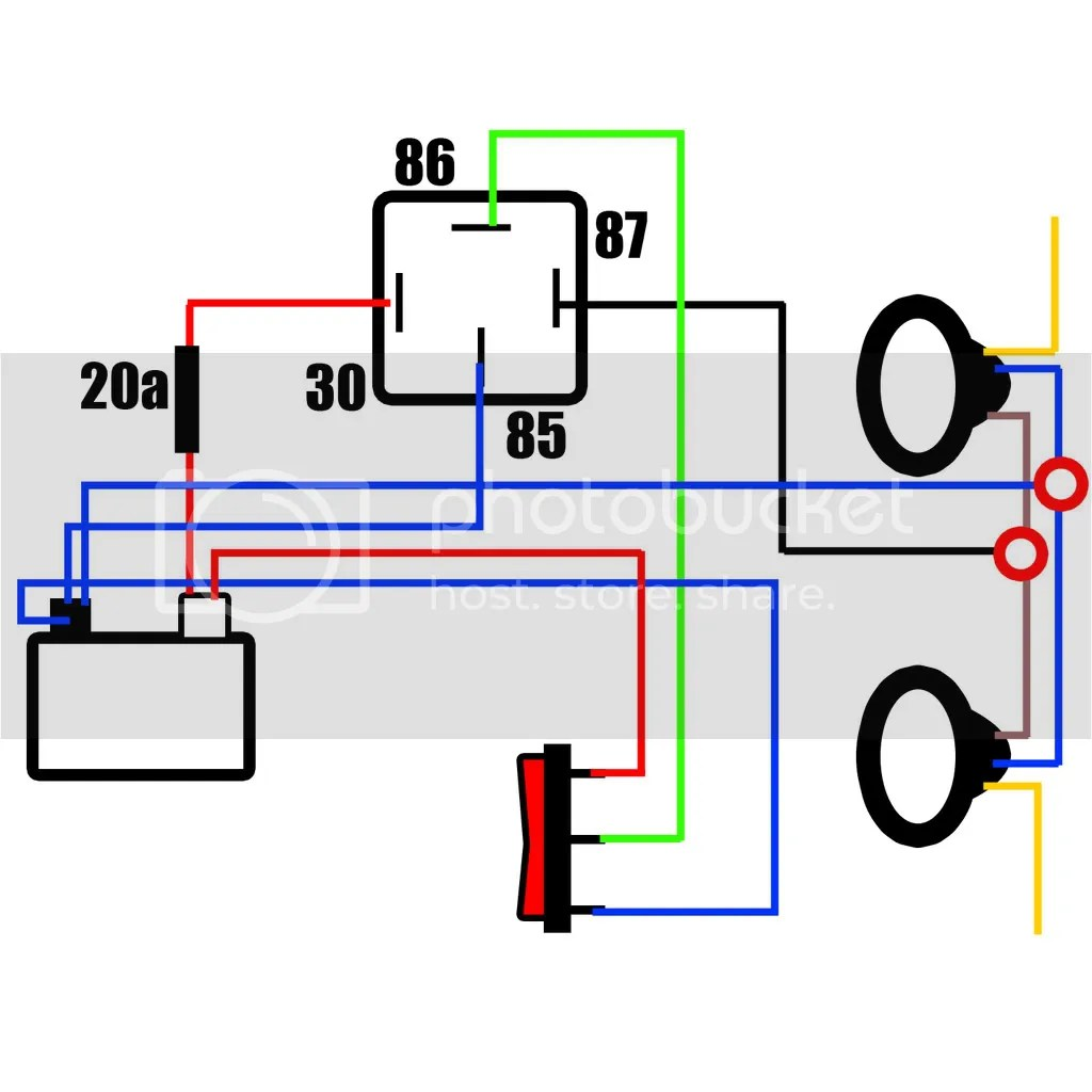 off road light wiring diagram with relay jeep grand cherokee radio 1995 for hella lights up trailer