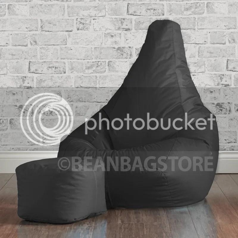 bean bag gaming chair portable fishing footstool beanbag bedroom high back recliner seat gamer   ebay