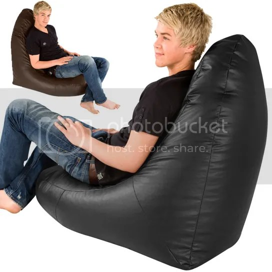 black friday bean bag chairs accent big wedge gaming beanbags gamer chair faux leather bags | ebay