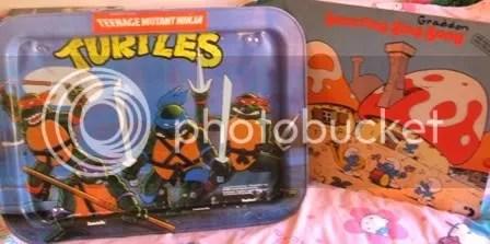 Teenage Mutant Ninja Turtles TV tray, Smurfs album