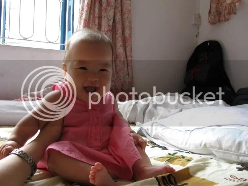 Angelica à 5 mois