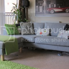 Karlstad Sofa For Sale Uk Bed Lounge Sydney Ikea Isundra Grey 3 Seater And Footstool
