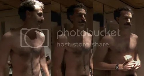 Sacha Baron Cohen Shirtless