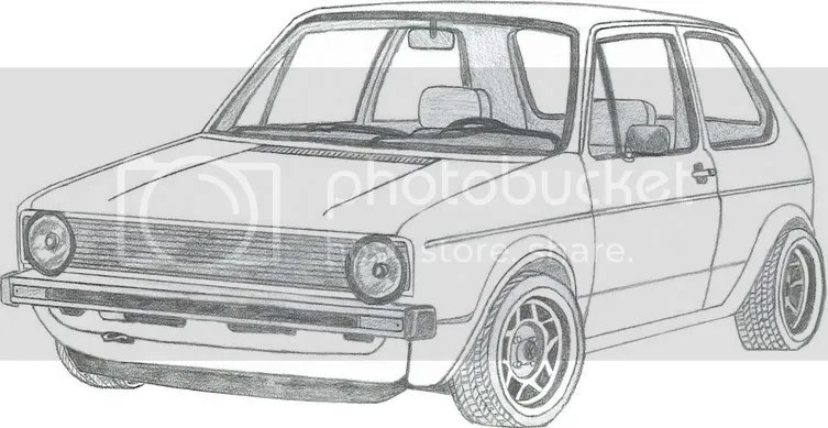 vw golf vr6 Colouring Pages