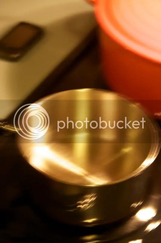 Pot of simmering water
