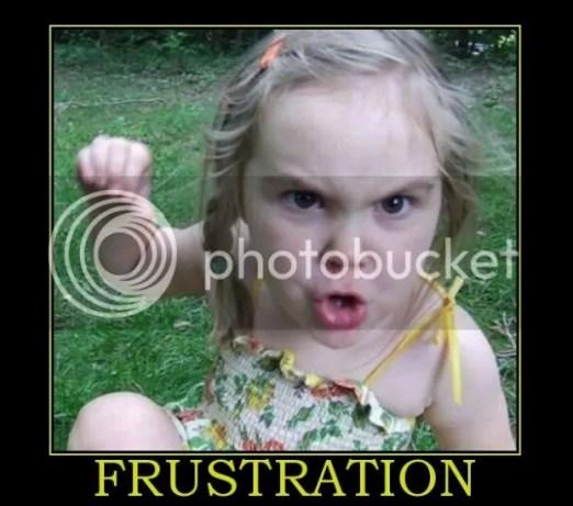 Frustration banner